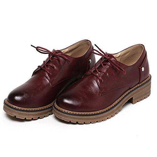 Ville de Femme Lacets Kaloosh Chaussures rouge vin à Pour TEqx5zPw