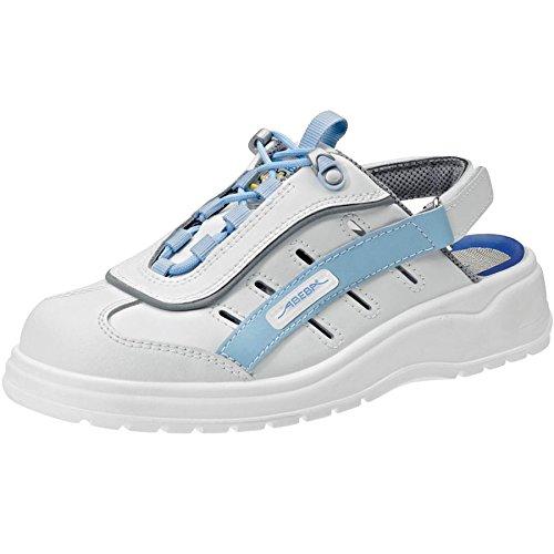 Abeba chaussure à usage professionnel Blanc/Clair Bleu