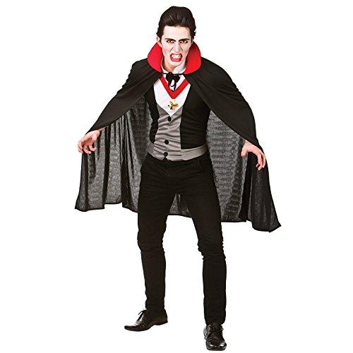 Blutdurstig Vampir Karneval / Halloweenkostüm Größe XL (Brust - Vampir Kostüm Männer