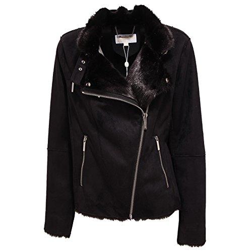 3938R giubbotto donna MICHAEL KORS nero montone jacket woman [XL]