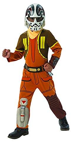 Kinder Star Ezra Kostüm Bridger Wars - Rubie's 3610457 - Ezra Deluxe - Child Larger Size, Verkleiden und Kostüme, 2 Stück
