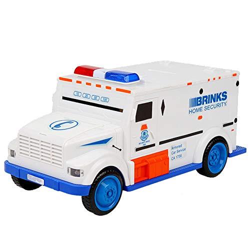 Coin Box Piggy Bank For Kids Electrónico Cash Truck Money Bank Mini ATM con Lámpara De Mesa Plegable Gran Regalo para Niños PBK-703