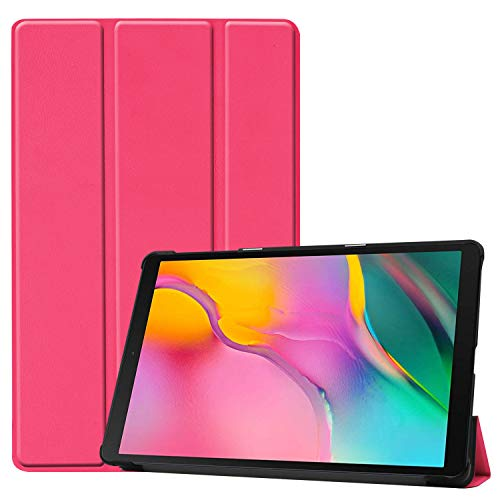 41 - TenYll Samsung Galaxy Tab A 10.1 2019 Funda, CHasis portátil [Ultra-Delgado] [Ultra-Ligero] Smart Tablet PC Holder para Samsung Galaxy Tab A 10.1 2019 Tableta -Rose Red Color