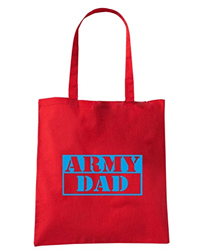 T-Shirtshock - Borsa Shopping FUN0633 army dad b w sticker 66178 Rosso