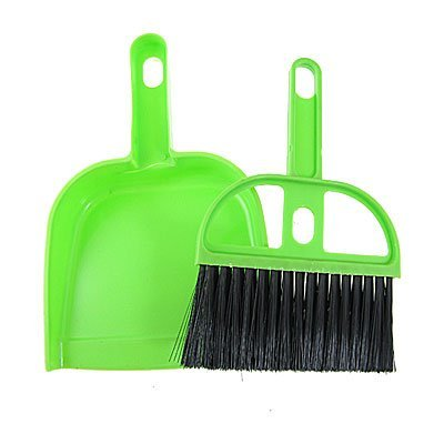 Stel Room Corner Cleaning Tools Rubber Bezem stoffer 2 in 1 Zwart Groen Tool Room