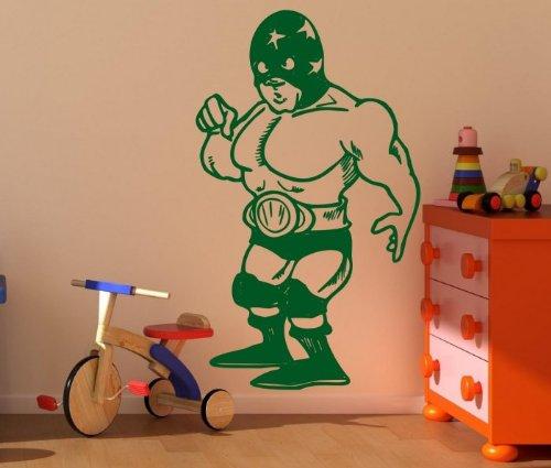 Superheld–Boy 's/Teenager Room Funny Wandtattoo, Grün, Medium: 45cm x 75cm