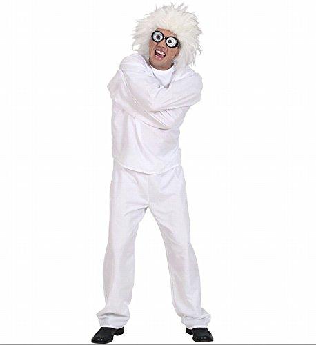 chsenenkostüm Wahnsinniger, Zwangsjacke und Hose, weiߟ, Gröߟe S (Irrenanstalt Kostüm)