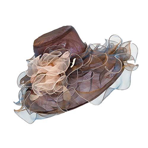 CANDLLY Hut Damen, Zubehör Kopfbedeckung Sonnenhut Großer Blumenhut Großes Visier Kappe Kirche Kentucky Fascinator Braut-Tee Party Hochzeits Hut ()
