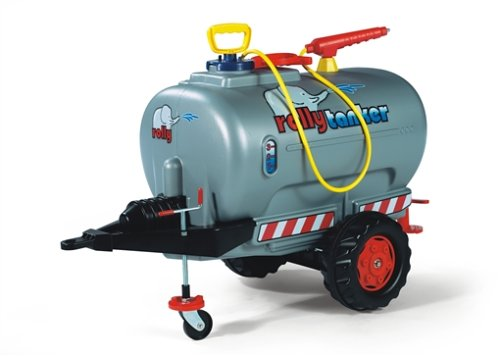 *Rolly Toys 122776 Anhänger Tanker, befüllbar, Stützrad mit Kurbel, inklusive Pumpe mit Spritze und Auslaufhahn (max. Befüllung 30L, Gewicht Leer 4,7 kg, Farbe Silber)*
