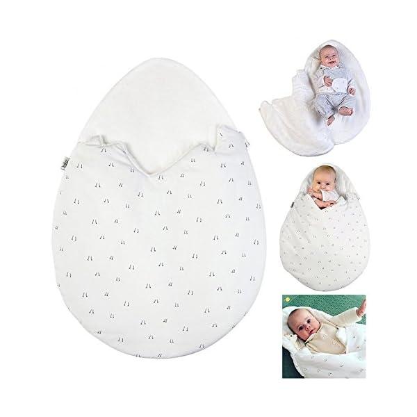 EXIU bebé otoño invierno estrellas algodón manta saco de dormir 0-1 año