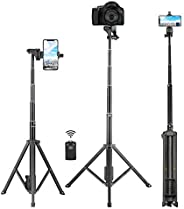 Selfie Stick Tripod, Eocean 54 inch Extendable Phone Tripod Stand,Universal Tripod with Wireless Remote,Portab