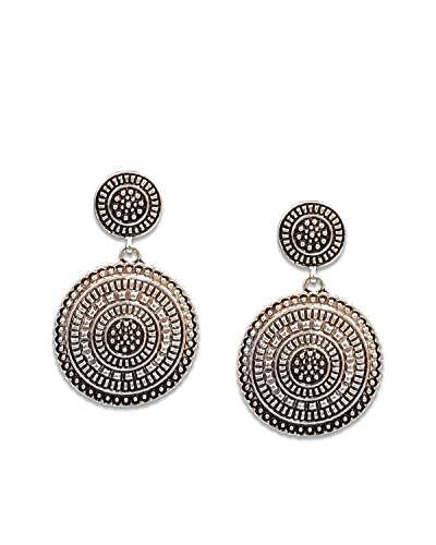 Young & Forever Valentine Gifts Special Tribal Muse Collection Oxidized Silver Plated Drop & Danglers Earrings...