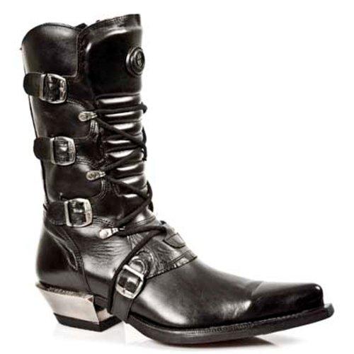 New Rock Boots Hommes Botte - Style 7993 S1 Noir Noir