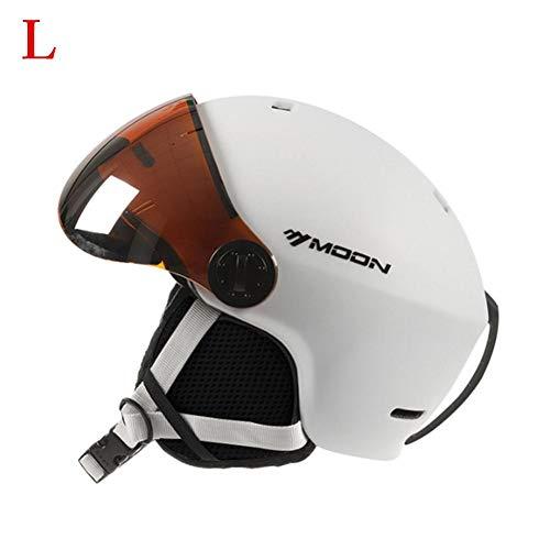 Ritapreaty Skihelm mit Skibrille, ABS & EPS Material Integrierter Sport Snow Snowboard Helm Unisex -