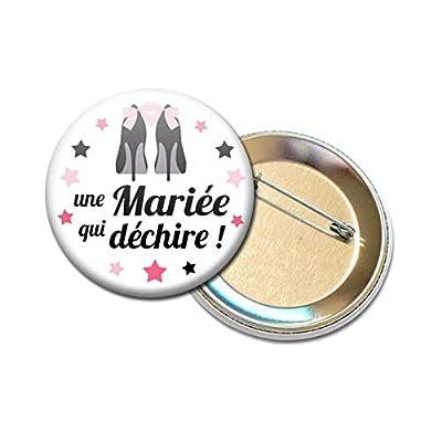 Badge Rond à Épingle 5,6 centimètres une Mariée qui Déchire Idée Cadeau Accessoire Accessoire Mariage Evjf