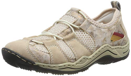 Rieker Damen L0543-31 Sneaker Rot (Altrosa/Rosa/Bouchara/Rose-Silver 31) 37 EU