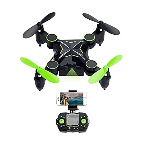 Mini Drone with HD Camera, SHIRUI H901HS Foldable Altitude Hold WiFi FPV 720P Camera iPhone/Android APP Remote Control Real Time Video Nano RC Quadcopter UFO RTF with Gravity Sensor & One-Key Return & Headless Mode & 3D Flip (Quadrocopter Android)