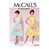 McCall 's Patterns 7599E5, Damenkleider, Größen 14–22, Tissue, Multi/Farbe, 17x 0,5x 0,07cm