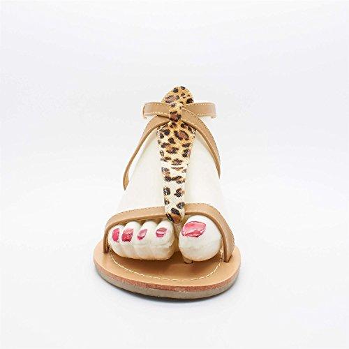 London Footwear - Cinturino a T donna Marrone (marrone)