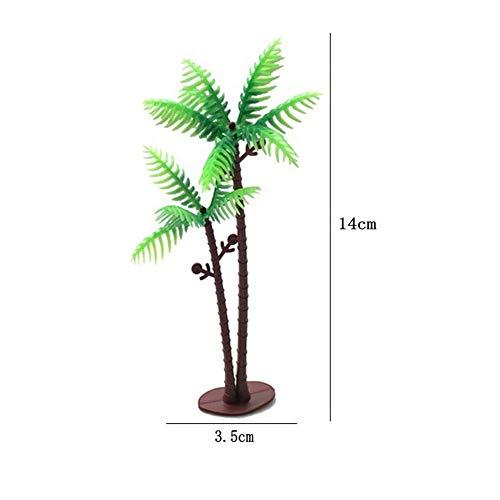 Vektenxi Aquarium Landschaftsbau Kokosnuss Aquarium Kleines Modell Modell Baum Simulation Pflanze Aquarium Dekoration