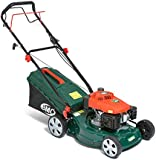 """BMC Lawn Racer 460 18"""" 4.33HP 141cc 2in1 Self Propelled 4 Stroke Petrol Lawn Mower with 7 Cutting Heights, Single Lever Height Adjustment, 55 Litre Collection Bag & Drive Speed Control - 2 Years Warranty"""