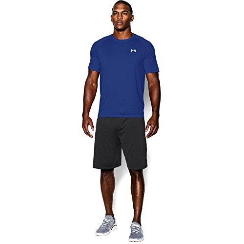 Lange Herren Under Armour Shorts (Under Armour Ua Tech Ss Tee Herren Fitness - T-Shirts & Tanks, Blau (Royal White), 3XL)