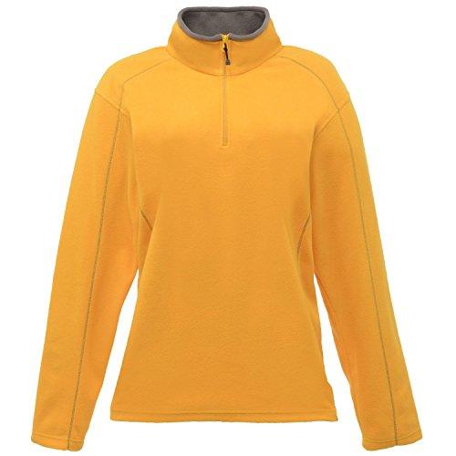 Regatta Standout Damen Ashville Fleece-Jacke / Fleece-Oberteil mit Reißverschluss bis zur Brust Altgold/Rauch