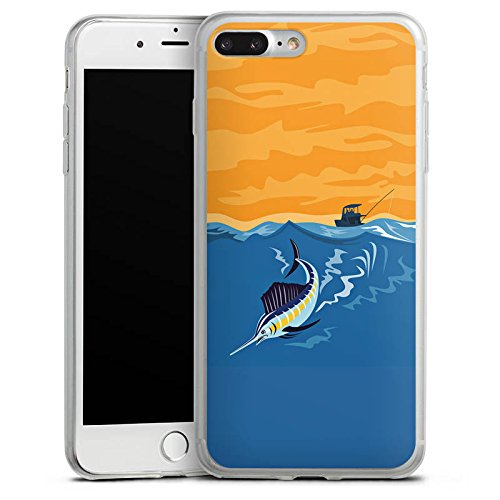 Apple iPhone X Slim Case Silikon Hülle Schutzhülle Schwertfisch Angeln Fisch Silikon Slim Case transparent