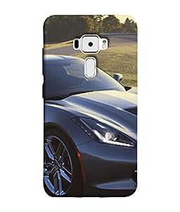 PrintVisa Designer Back Case Cover for Asus Zenfone 3 ZE552KL (5 Inches) (Racing Fast Rich seven cylenders fancy)