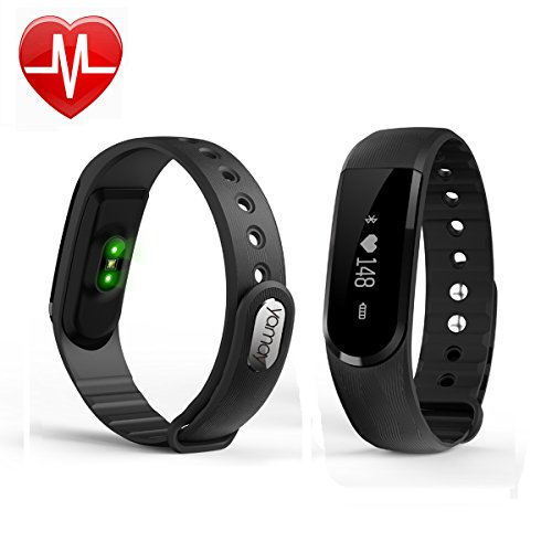 Fitness Tracker,Yamay Fitness Armband mit Pulsmesser Uhr Aktivitätstracker Fitness Armbanduhr Pulsuhren Schrittzähler mit Schlafanalyse Kalorienzähler Vibrationswecker Anruf SMS/SNS für Android iOS