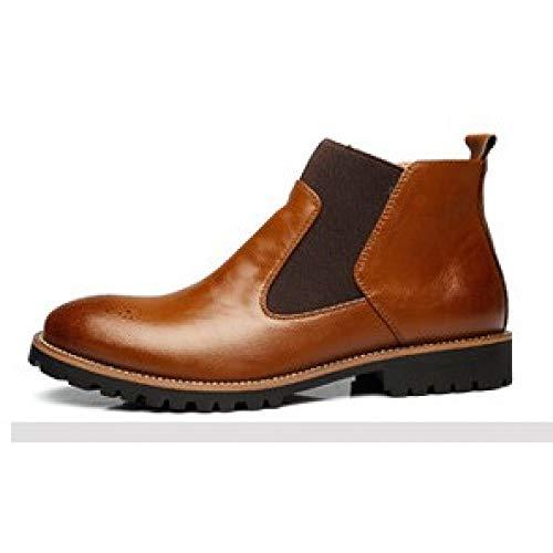 FHCGMX Automne Casual Hommes Mode Hommes d'affaires Bottes Matériel de Haute qualité Anti-Slip Bottes Taille 38-46
