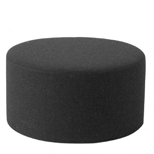 Softline Drum Hocker/Beistelltisch L, anthrazit Stoff Filz 610 H 30cm Ø 60 cm