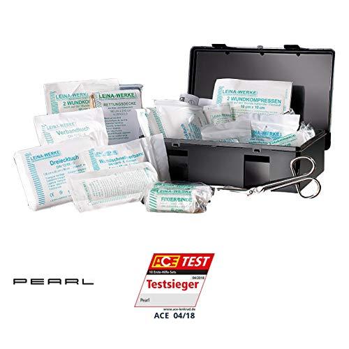 erste hilfe auto set PEARL Verbandskasten 13164: Marken-KFZ Verbandkasten PLUS, geprüft nach DIN 13164 (Erste Hilfe Set)