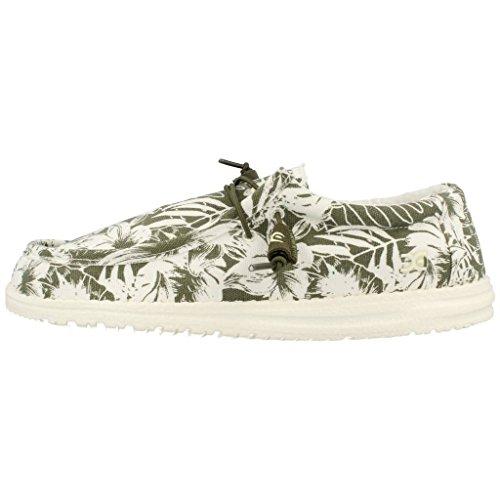 Dude Shoes Men's Wally Funk Beige Khaki Palm Grey