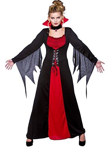Scary Kostüme Damen Für Halloween (Klassischer Deluxe Damen-Kostüm Vampir-Kostüm Halloween Horror, Scary)