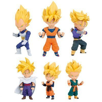 Dragon Ball Z World Collectable Figure WCF Super Saiyans 6figures Complete Set Banpresto Japan