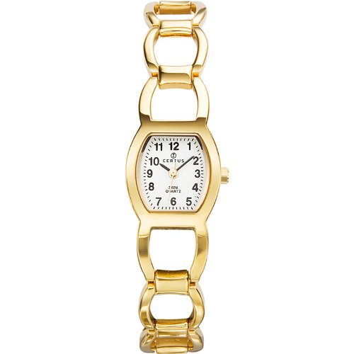 Certus 620925-Women's Quartz Analogue Watch-Gold Metal Bracelet Pink Dial
