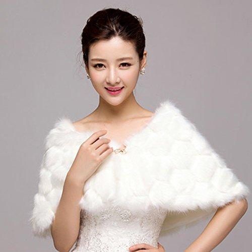 Europäischer Herbst-und Winter-Schal-weiße Brautbrautjunfer-warme Schals, die Haar-Schal Wedding sind
