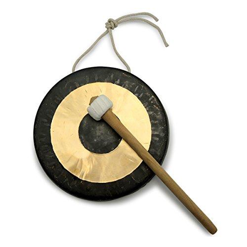 Original Tam Tam Gong/Whood Chau Gong 20 cm, toller Klang, inklusiv Holz-/Baumwollklöppel -7020-