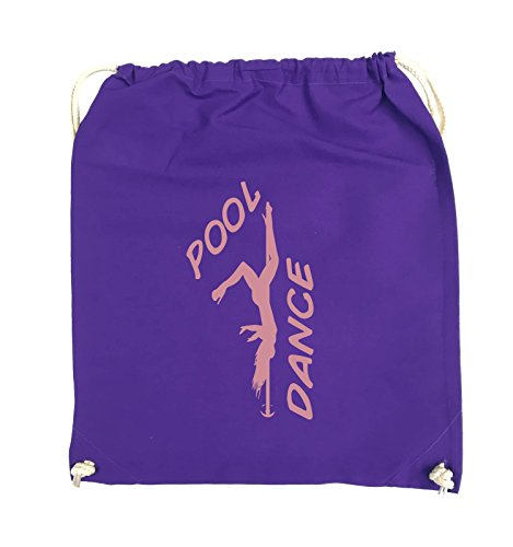 Comedy Bags - POOL DANCE - FIGUR - Turnbeutel - 37x46cm - Farbe: Schwarz / Silber Lila / Rosa