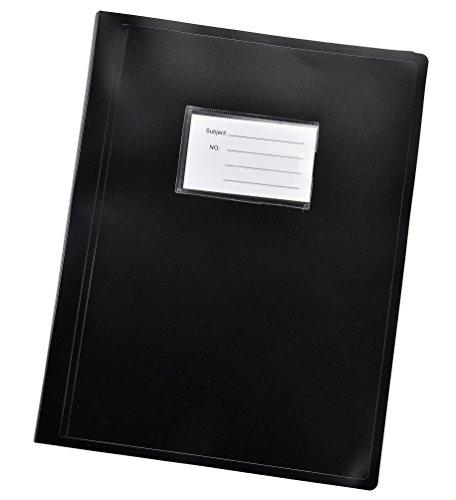 Portfolio-ordner Schwarz (Arpan Schwarz A4 Sichtbuch Ordner flexiblen Abdeckung Portfolio - 104 Taschen 208 / Sides)