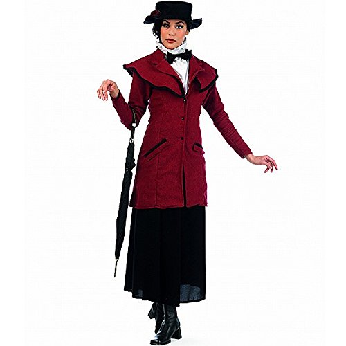 Mary Poppins - Costume tratto dal film musical - Costume della baby sitter di Mrs. Banks - Giacca, gonna, cappello - L