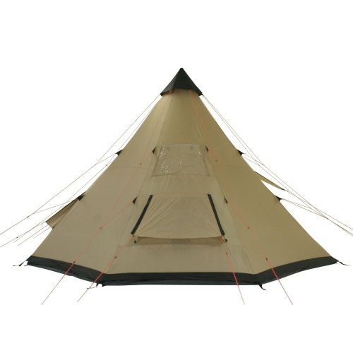 411JglVTDqL. SS500  - 10T Outdoor Equipment Waterproof Shoshone Unisex Outdoor Teepee Tent available in Beige  - 8 Persons