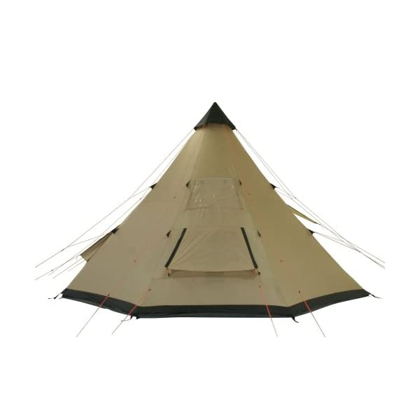 10T Outdoor Equipment Waterproof Shoshone Unisex Outdoor Teepee Tent available in Beige  - 8 Persons 6