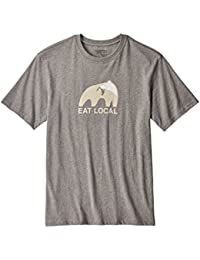 Patagonia M's Eat Local Upstream Cotton T-Shirt Gravel Heather L