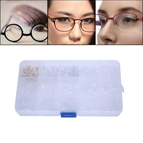 Nasenpads - weiche Silikon Brillen Nasen Pads 300pcs Ersatz Nasenpads Gläser Reparatur Kit Tool, 15 Styles