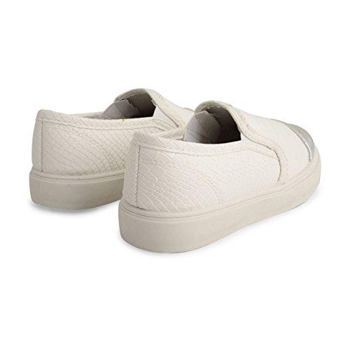 Footwear Sensation ,  Unisex Kinder Kurzschaft Stiefel Weiß / Schlangenhautmuster