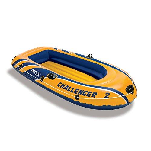 Intex Schlauchboot Challenger 2 Set Phthalates Free Inkl. Paddel und Luftpumpe, 68367np