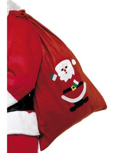Qualitäts Kostüme Santa (Smiffys, Unisex Weihnachtsmann Rucksack mit lustigem Santa Motiv, 90 cm x 60cm,)