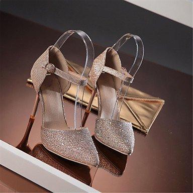LvYuan-ggx Tacchi-Matrimonio Formale Serata e festa-DOrsay Club Shoes-A stiletto-Lustrini Materiali personalizzati-Argento Dorato Gold